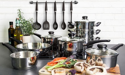 Morphy richards 13 pc kitchen set groupon goods for Kitchen set groupon