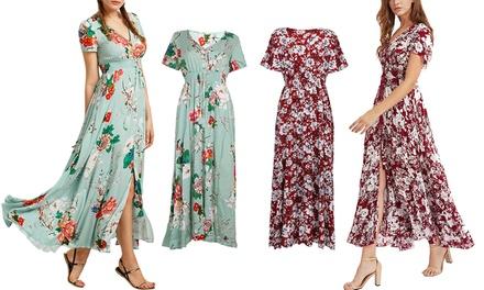 1 o 2 vestiti da donna con stampa floreale disponibili in 2 colori e 3 taglie