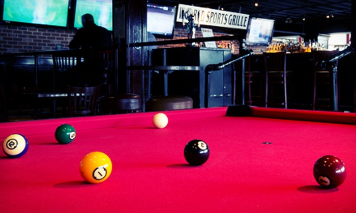 World Sports Grille - South-Lake Union: Two Hours of Billiards for One or Billiards for Two with Drinks and Appetizers at World Sports Grille (Up to 67% Off)