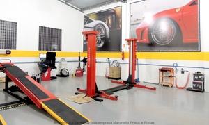 Maranello Pneus & Rodas: Maranello Pneus & Rodas – Cinqüentenário: geometria 3D, balanceamento, rodízio de pneus e revisão de 3 itens
