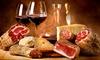 Degustazione vino, salumi, focaccia