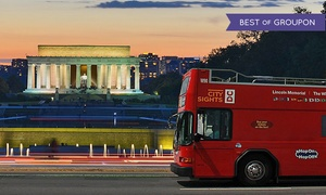 CitySights DC: Double-Decker Bus Night Tour for One or Two from CitySights DC (58% Off)