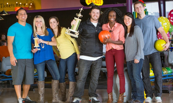 Fat Cats - Multiple Locations: $29 for One Hour of Thunder Alley Bowling for Six with Shoes and Soda at Fat Cats (Up to $64.50 Value)