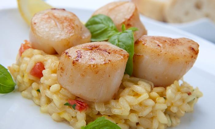 """Le Septentrion - Marcq En Barœul: Menu """"Incontournable"""" avec mise en bouche, entrée, plat et dessert pour 2 personnes à 49 € au restaurant Le Septentrion"""