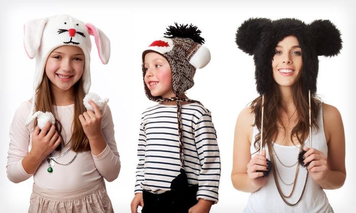 Pandahats Animal-Themed Winter Hats: Pandahats Animal-Themed Winter Hats (Up to $39.95 List Price). 12 Styles Available. Free Returns.