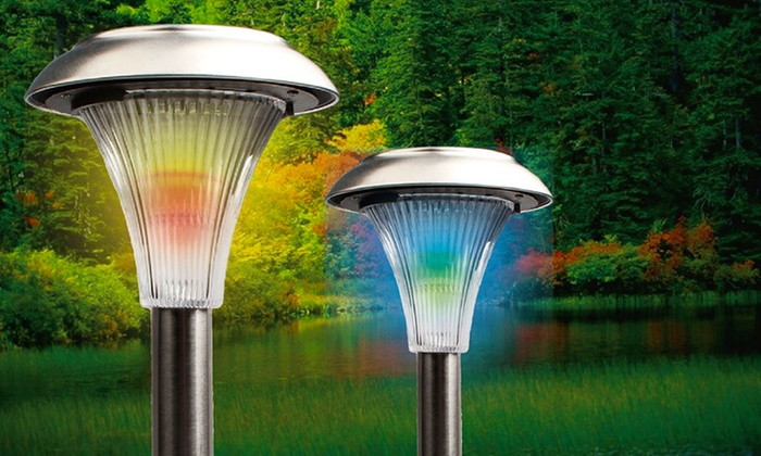 up to 65 off on solar garden path lights livingsocial shop. Black Bedroom Furniture Sets. Home Design Ideas