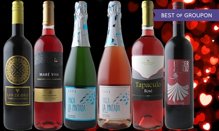$39 for Six Bottles of Reds, Rosés, and Bubbles from Splash Wines ($103.70 Value)