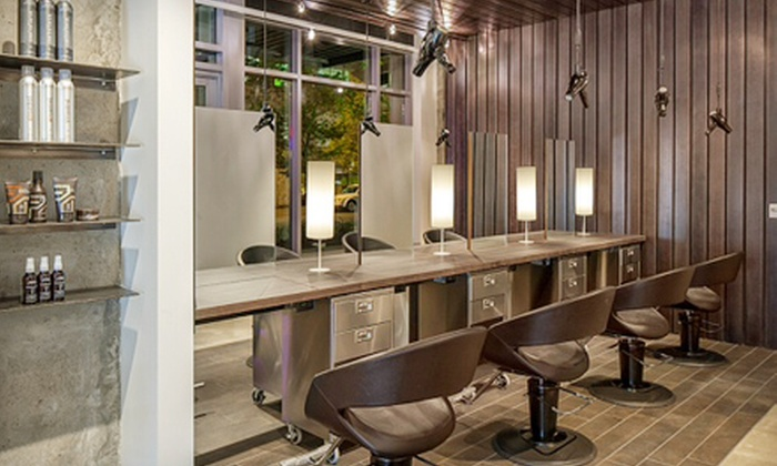Gary Manuel Studio Aveda Salon - Multiple Locations: Haircut with Botanical Hair, Scalp Therapy and Optional Color or Highlights at Gary Manuel Aveda Salon (Up to 65% Off)