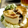 Homemade Pie and Mash With Drink