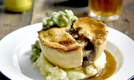 Pie Meal and Beer for Two or Four at King Charles Restaurant (Up to 44% Off)