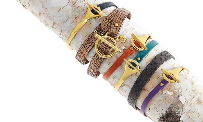 Gorjana: $29 for a Gorjana Women's Leather Bracelet (Up to $75 List Price). Multiple Designs Available. Free Shipping & Returns.