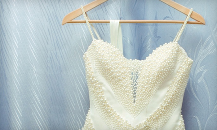Tifany's Bridal - Multiple Locations: Wedding Gown Cleaning or Bridal Bouquets at Tifany's Bridal (Up to 80% Off)