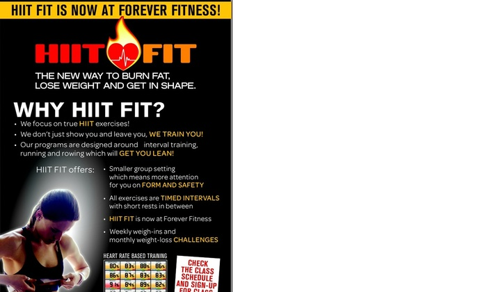 Forever Fitness Studio - Forever Fitness Studio: Up to 61% Off HIIT Fit Club Classes at Forever Fitness Studio