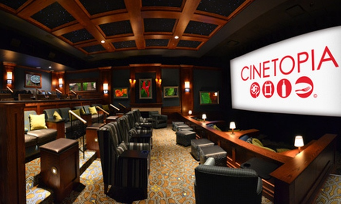 Cinetopia - Multiple Locations: $19 for a Movie and Concessions for Two at Cinetopia (Up to $50 Value)