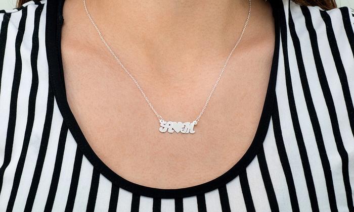 Monogram Hub: $5 for Heart Felt Initials Couples Necklace from Monogramhub.com ($99.99 Value)