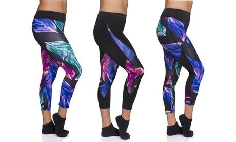 Womens Floral Print Activewear Capri aa19ff41-a478-4538-8ecc-af695e33a709