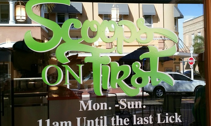 Scoops on First - Downtown Historic District: $12 for $20 Worth of Ice Cream at Scoops on First