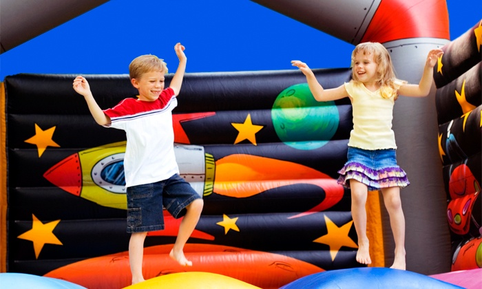 Bounce House - Multiple Locations: $16 for 4 All-Day Play Passes, 4 Sodas, and 4 Bags of Chips at Bounce House (Up to $56 Value)