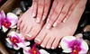 High 5 Salon - Sausalito: Shellac Manicure or Spa Pedicure Options at High 5 Salon (Up to 51% Off)