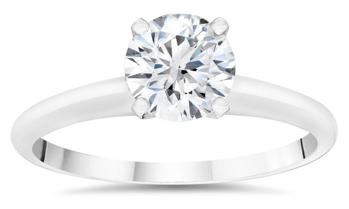 Groupon Enement Ring Review | 1 0 Ctw Lab Grown Diamond Ring Groupon Goods