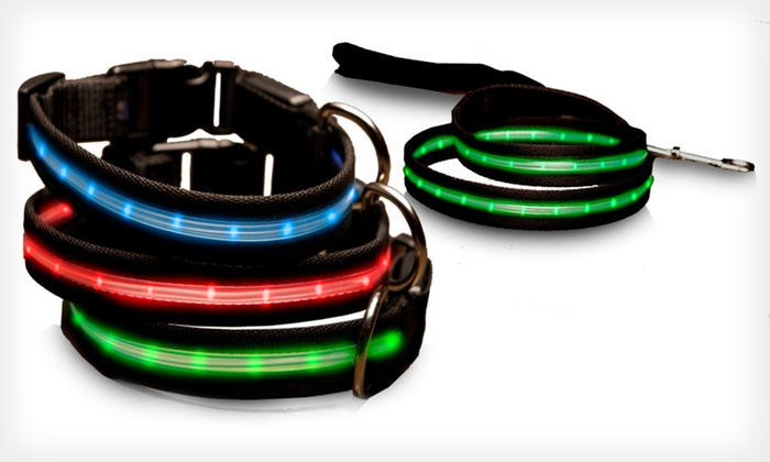 ShopTough LED Collars and Leashes: ShopTough LED Pet Collars and Leashes (Up to 78% Off). Multiple Colors and Sizes Available. Free Returns.