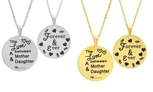 The Love Between a Mother and Daughter Pendant in Stainless Steel at The Love Between a Mother and Daughter Pendant in Stainless Steel, plus 6.0% Cash Back from Ebates.