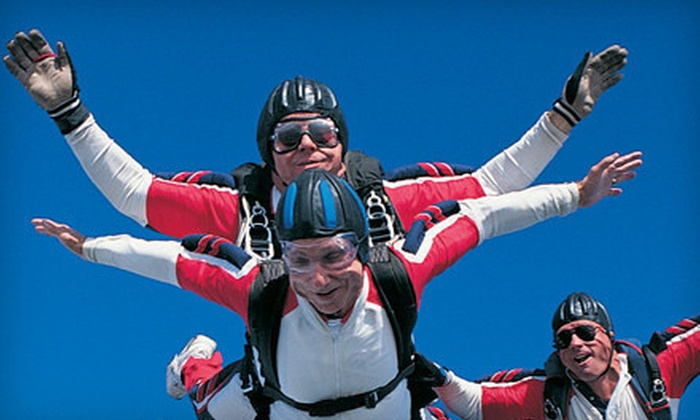Skydive White Sands - Alamogordo: Scenic Flight and Tandem Skydive for One or Two with Handheld Cameras at Skydive White Sands (Up to 50% Off)