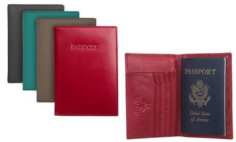 Visconti RFID-Blocking Leather Passport Wallet