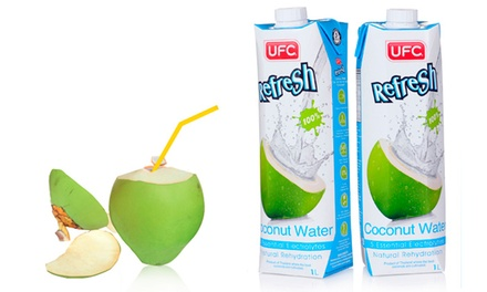 Four (£9.98), Eight (£16.99) or Twelve (£22.99) One-Litre Coconut Water Cartons