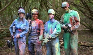 Skirmish Paintball Norwich: Paintballing For Up to Ten With 100 Balls and Coffee or Tea Each at Skirmish (81% Off)