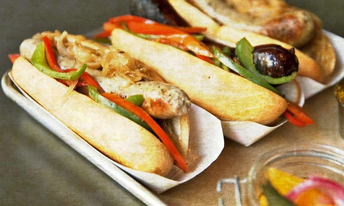 Scotch & Sausage - Oak Lawn: $11 for $20 Worth of Gourmet Sausages at Scotch & Sausage