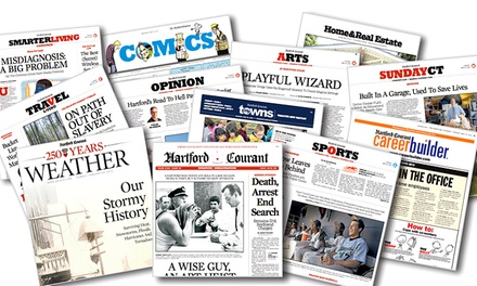 "52-Week Sunday-Only or Thursday–Sunday Subscription to the ""Hartford Courant"" (Up to 93% Off)"
