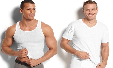 7-Pack Hanes Men's Undershirts and Tank Tops