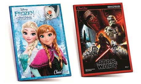 Calendario de adviento Frozen o Star Wars por 1,98 € (87% de descuento)