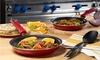 Guy Fieri 10-Piece Nonstick Cookware Set: Guy Fieri 10-Piece Nonstick Cookware Set in Red or Yellow