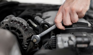 Tech Auto Service: Complete Emissions Diagnostic or Air-Conditioning System Check-Up (Up to 51% Off)
