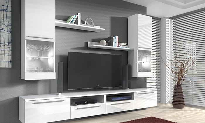 e com international bv meuble tv murale en diffrents modles et couleurs ds 349 - Meuble Tv Blanc Modele Lions