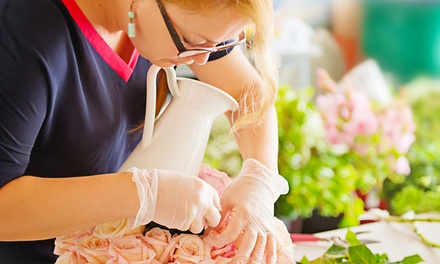 Flower Arrangement Workshop from £29 at Midas Touch Crafts (Up to 81% Off)