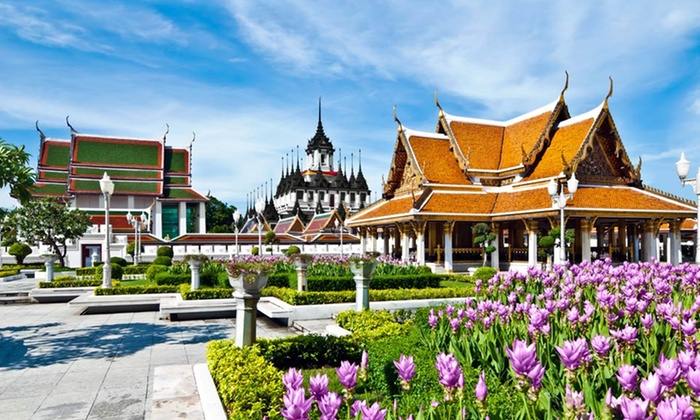 Bangkok Vacation with Airfare - Bangkok, River Kwai, and Ayutthaya: 8-Day Bangkok Vacation with Airfare from Gate 1 Travel. Price/Person Based on Double Occupancy.