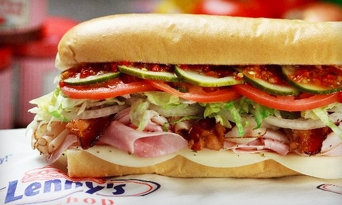 Lenny's Sub Shop - Multiple Locations: $7 for $14 Worth of Subs and Drinks at Lenny's Sub Shop. Two Locations Available.