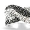 Black and White Diamond Crisscross Ring