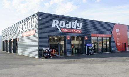 Bon dachat dune valeur de 100 € à valoir en atelier dans plus de 100 centres auto Roady à seulement 50 €