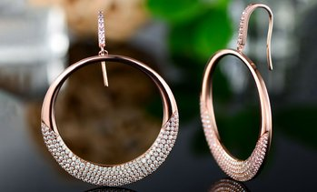 Crystal Drop Earrings made with Swarovski Elements (Multiple Options)