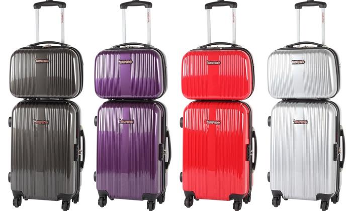 énorme réduction 6741b 8f935 Valise à roulettes rigide et Vanity Murano | Groupon Shopping