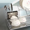Deluxe 2-Tier Chrome Dish-Drying Rack
