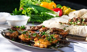 52% Off Food and Drinks for Two at Tob Kabab at Top Kabab, plus 6.0% Cash Back from Ebates.