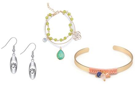 Bijoux au choix de la marque Pearl Shed ornés de cristaux