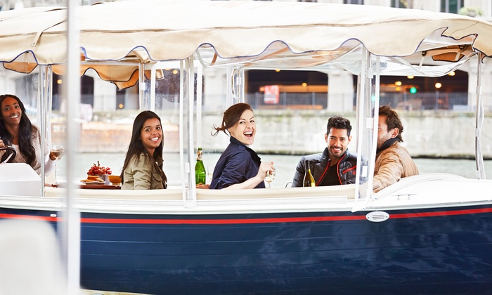 Pelican Joe Bay Boat Rentals - Belmont Shore: Two-Hour Electric-Boat Rental from Pelican Joe Bay Boat Rentals (Up to 54% Off). Two Options Available.