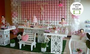 Buffet Fábrica Encantada: Buffet Fábrica Encantada – Guará 1: aluguel de decoração provençal ou rústica com 4 mesas – parcele sem juros