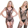 Fishnet and Lace Garter Bodystocking